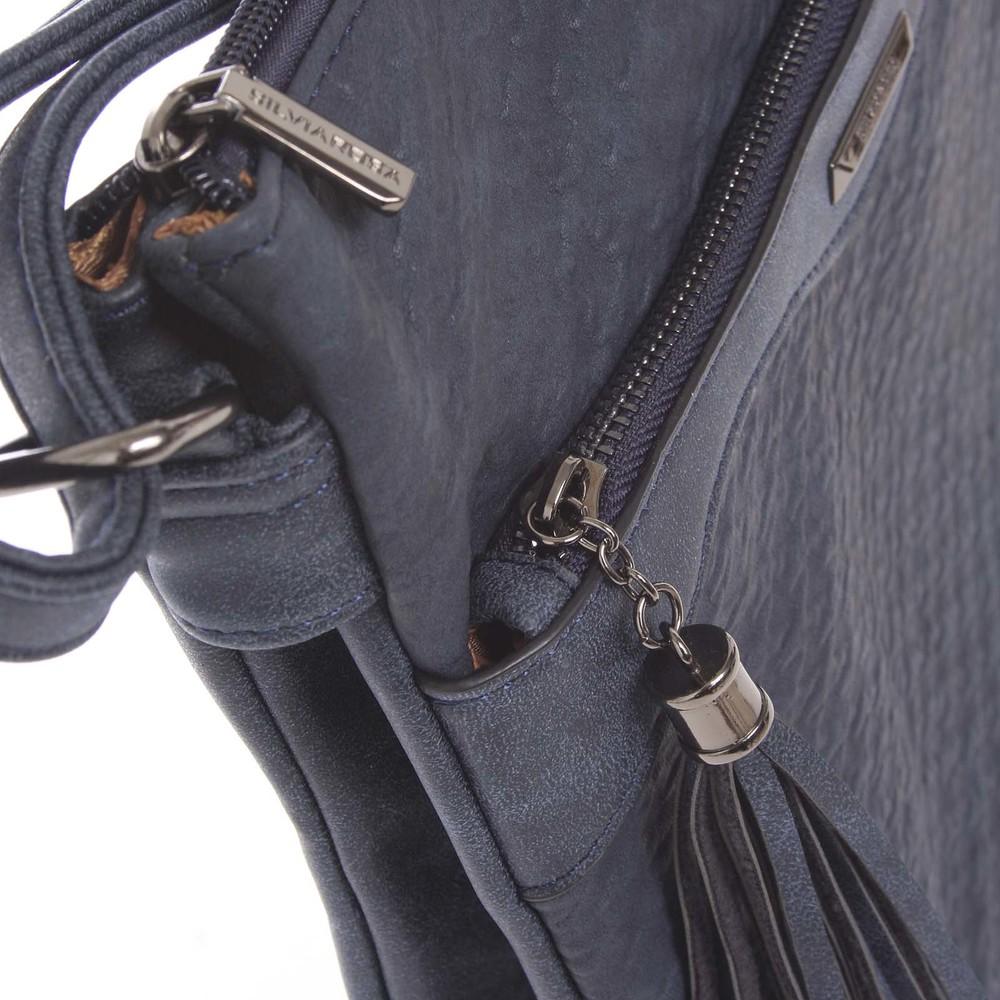 Dámská vzorovaná crossbody kabelka tmavě modrá - Silvia Rosa Scylla ... 851efad5ebc