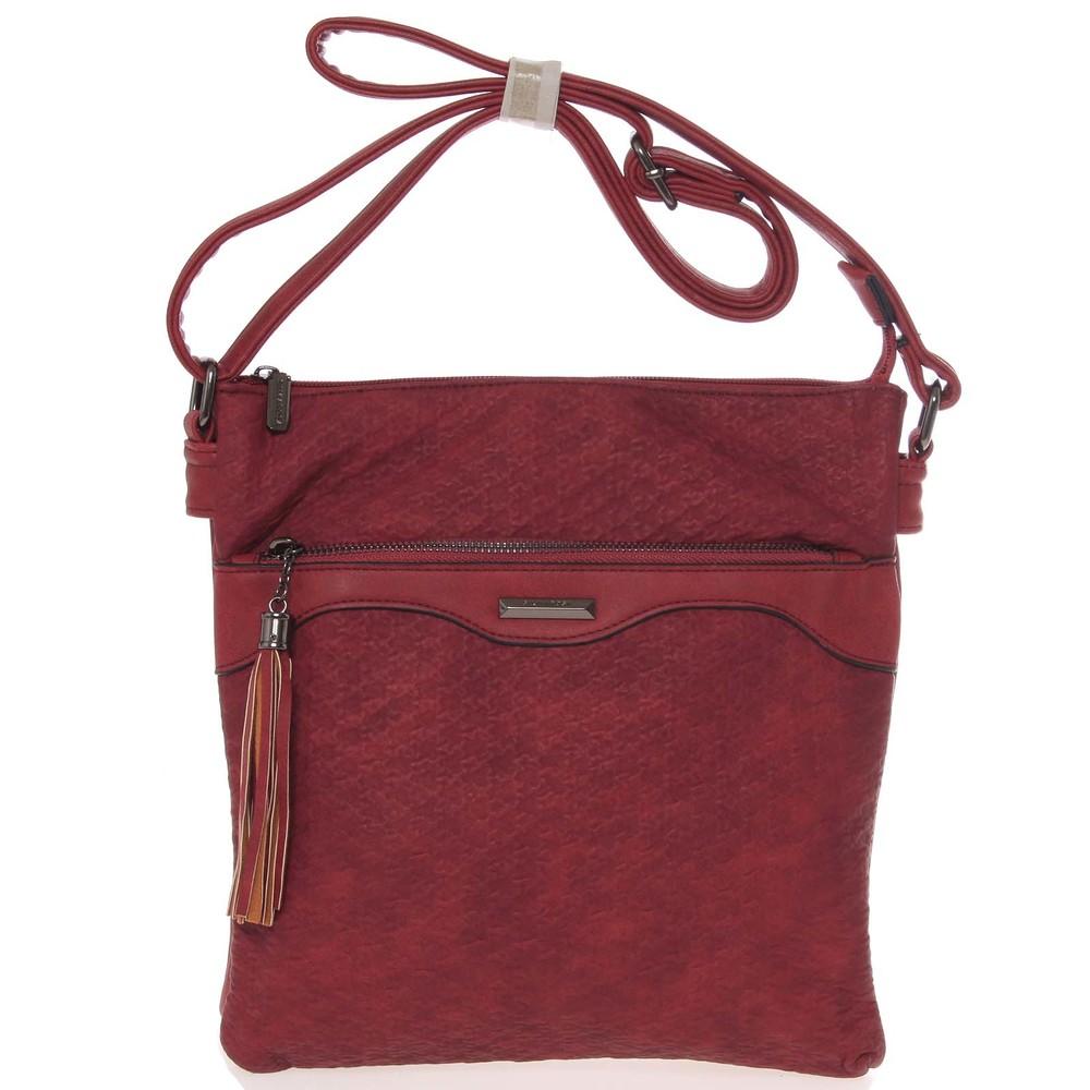 Dámská vzorovaná crossbody kabelka vínově červená - Silvia Rosa Scylla ... 314404348a3