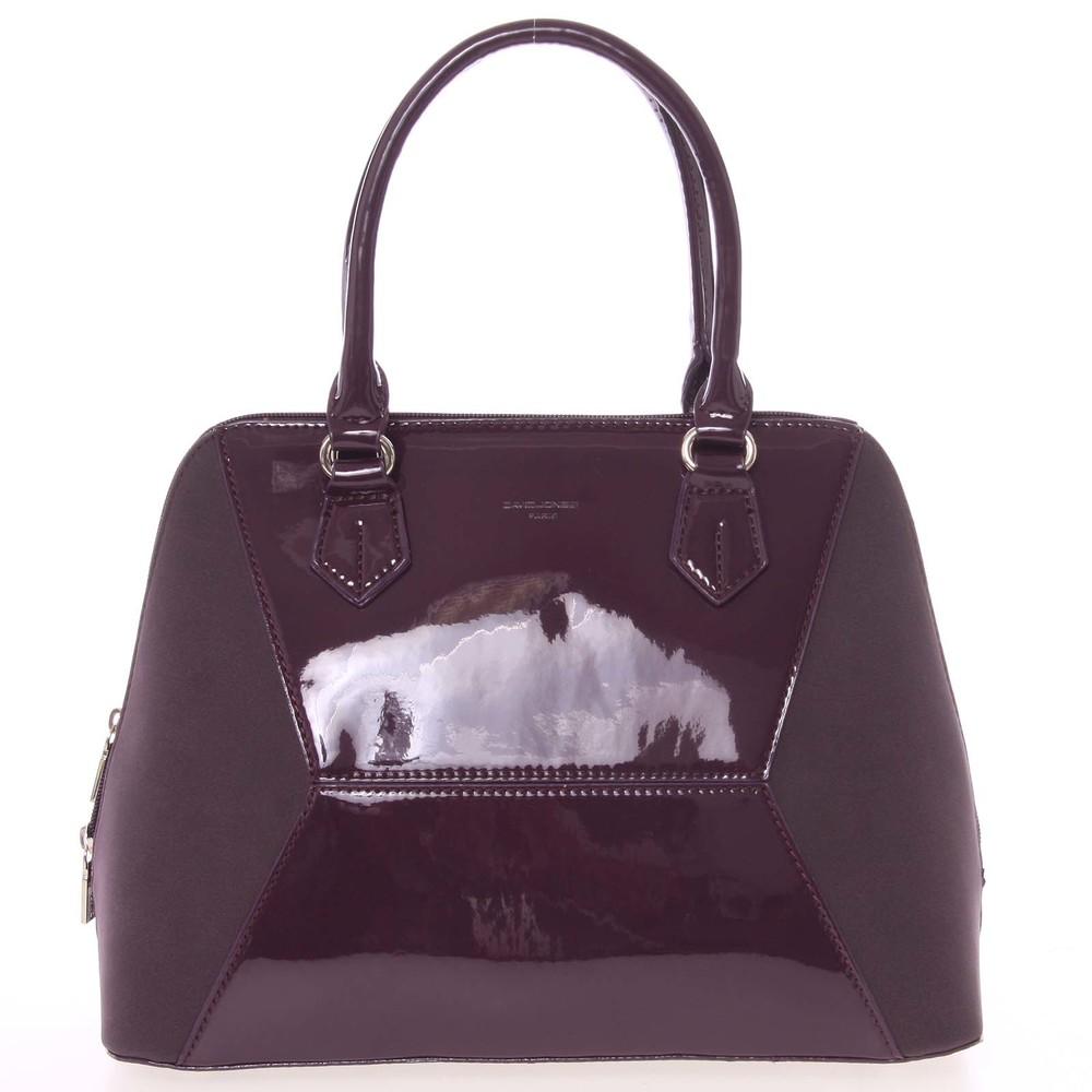 Nadčasová dámská tmavě fialová kabelka do ruky - David Jones Zion ... 0431df7d883