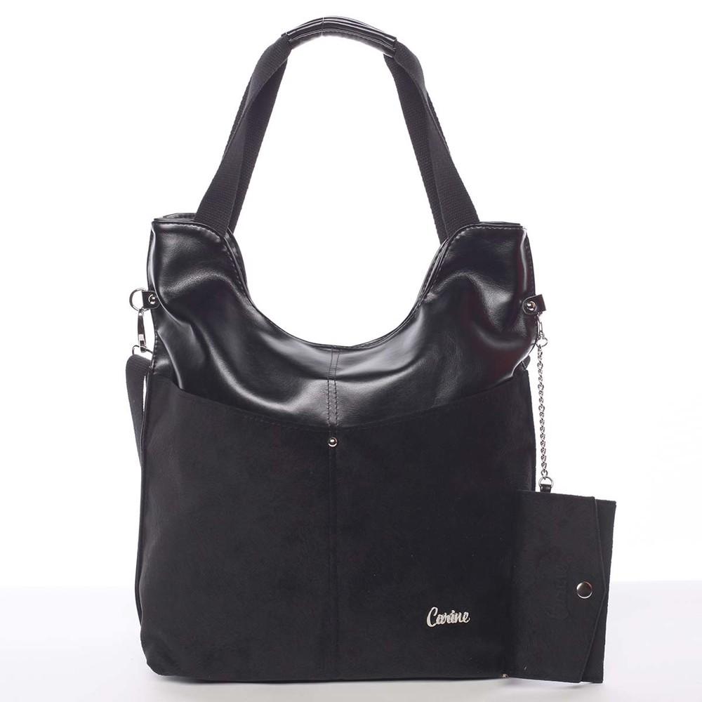 Moderní dámská kabelka černá - Carine Kaleigh - Kabea.cz 4938a650830