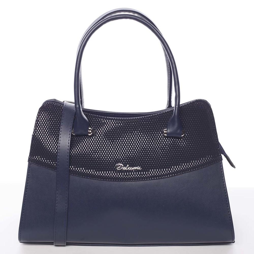 Módní dámská kabelka do ruky tmavě modrá - Delami Elliana - Kabea.cz 906462b0b3