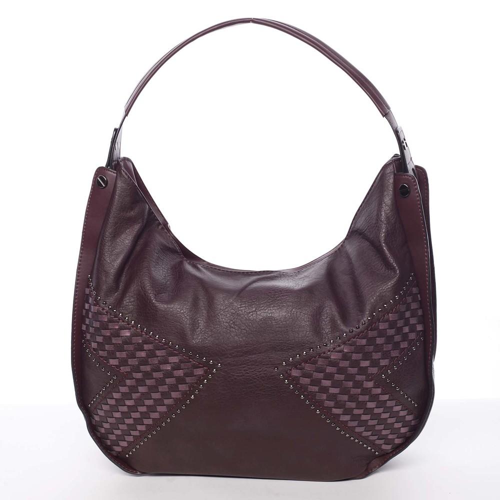 ee76c7429 Dámská originální zaoblená kabelka přes rameno tmavě vínová - MARIA C  Vanessa ...