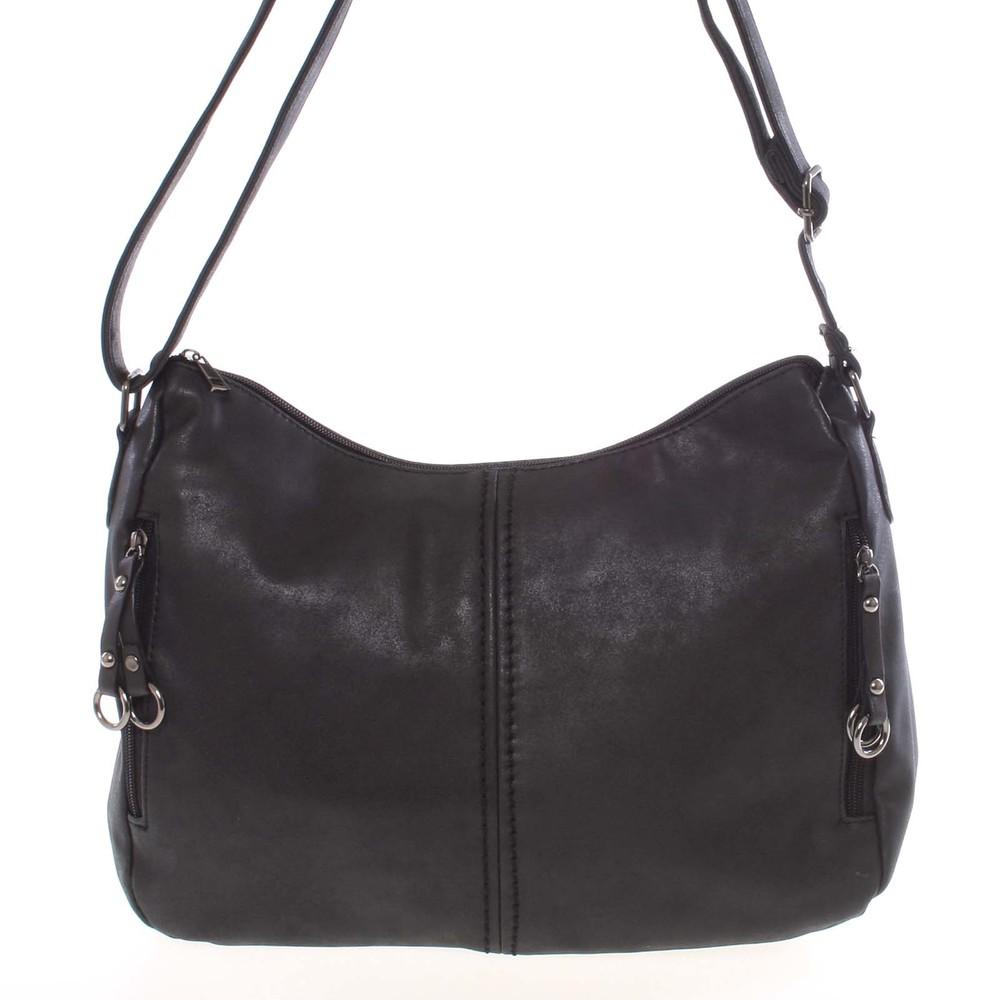 Větší dámská měkká černá kabelka - Piace Molto Leontina - Kabea.cz 43eccd63d76