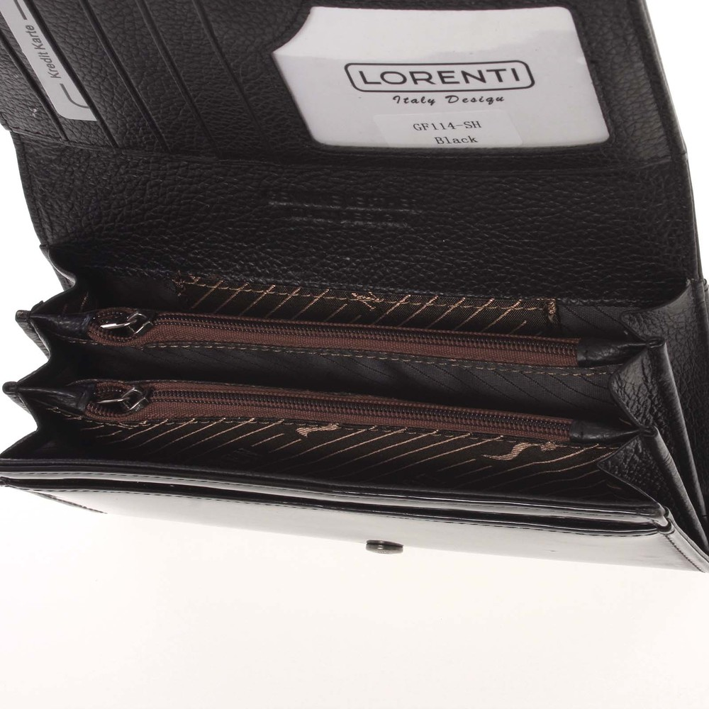 Veľká luxusná lakovaná čierna dámska peňaženka - Lorenti 1140 - Kabea.cz bc391b8af25