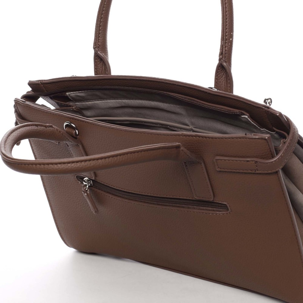 6ec9572cbb Atraktivní dámská kabelka do ruky hnědá - David Jones Eugenie - Kabea.cz