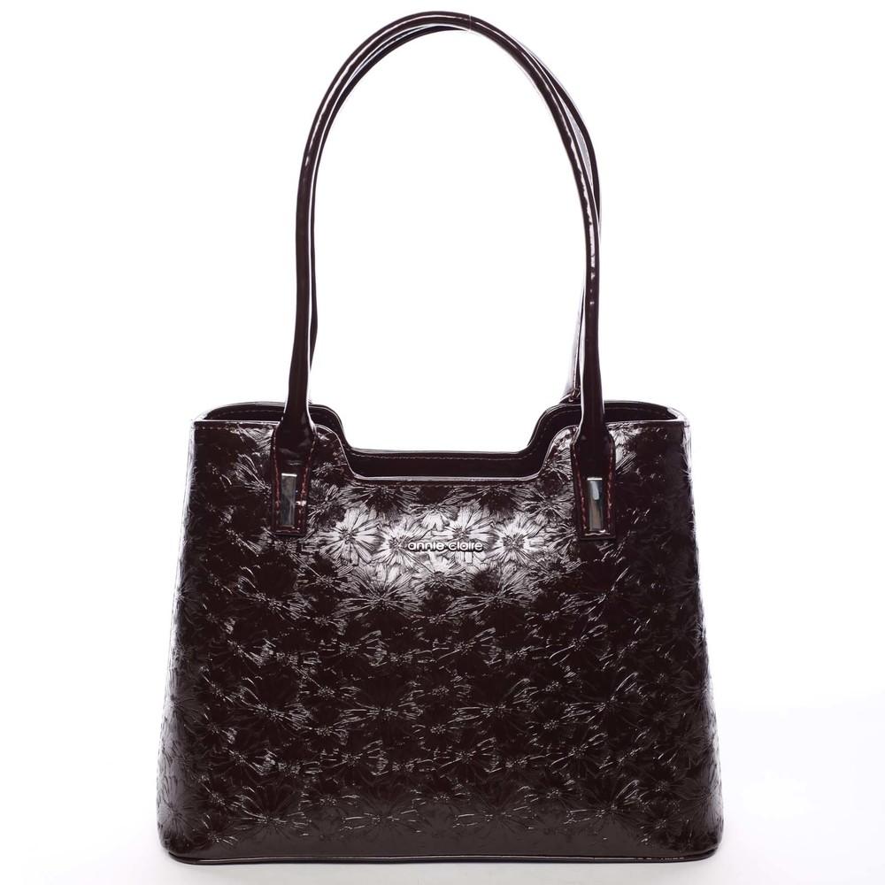 1e93041260 Vínová dámská květinová kabelka přes rameno lakovaná - Annie Claire 3020 ...