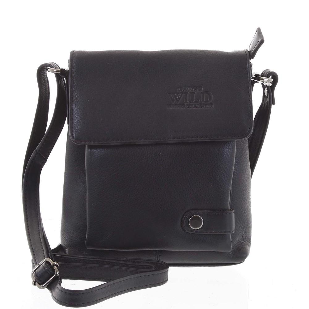 95bc42704f Sexy černá kožená kabelka - WILD Noreis - Kabea.cz