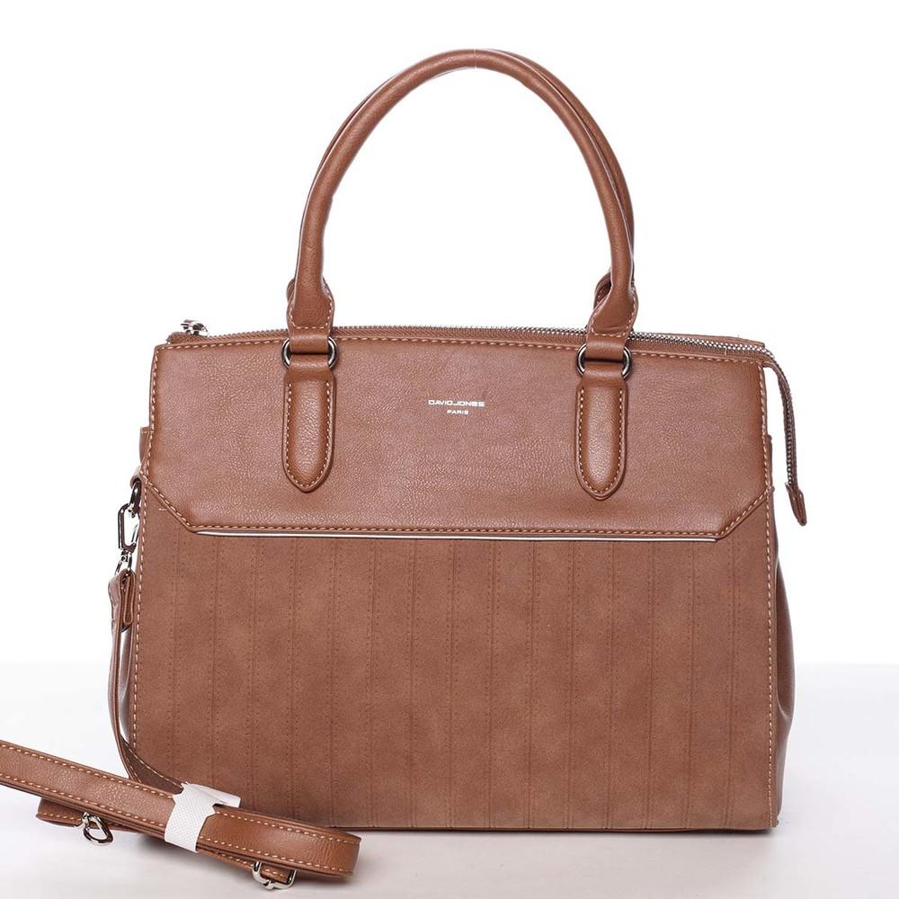 be0e868194 Luxusní nadčasová dámská koňaková kabelka - David Jones Allison ...