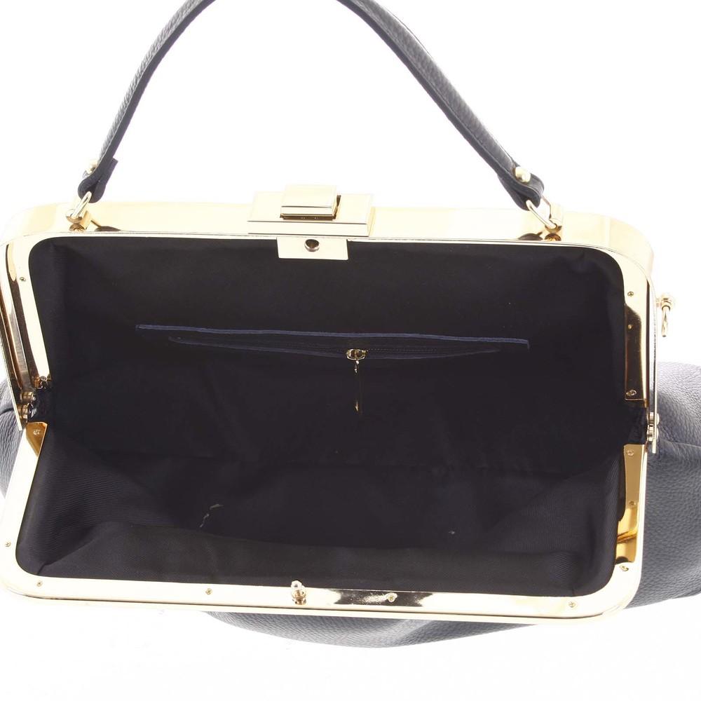 Retro luxusní dámská kožená kabelka černá - ItalY Maty - Kabea.cz 76d501048cc