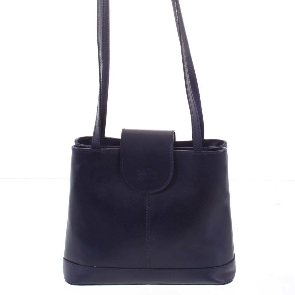 Kožená dámská tmavě modrá kabelka přes rameno - ItalY Zenna - Kabea.cz db50651e31f