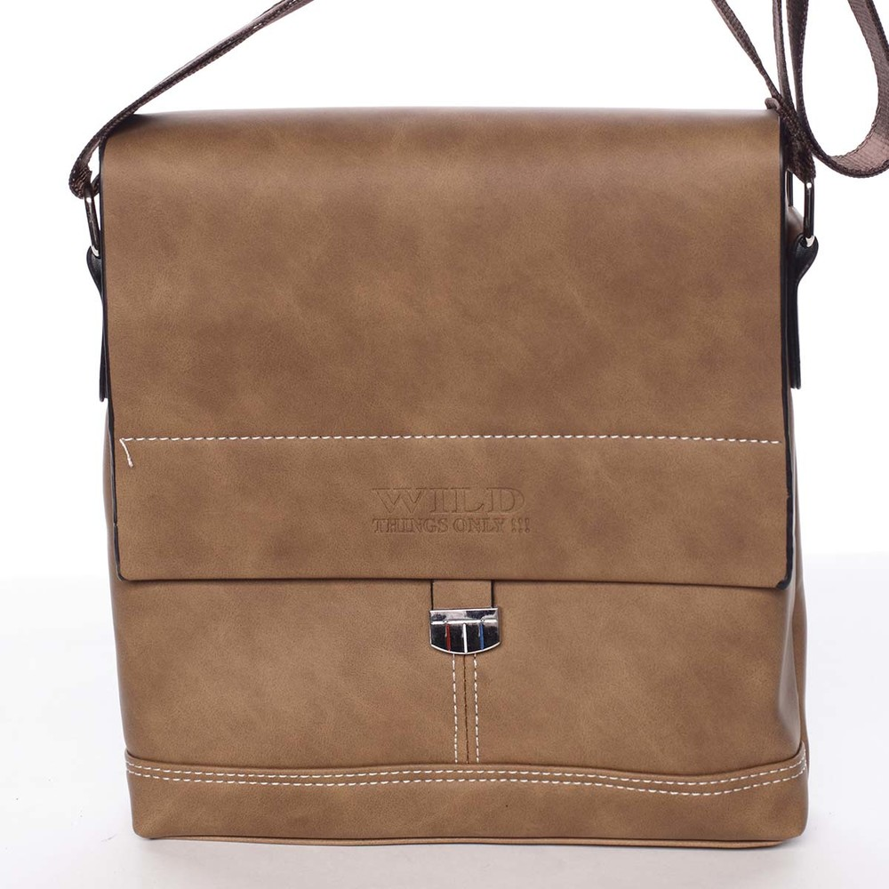 f12524d903 Hnědá originální pánská taška přes rameno - WILD Adad - Kabea.cz