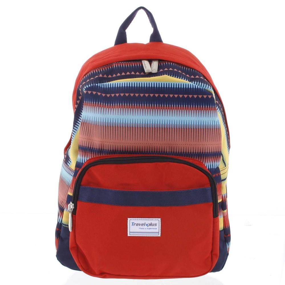 Střední dámský červený batoh na výlety - Travel plus 0643 - Kabea.cz 9af66458b5