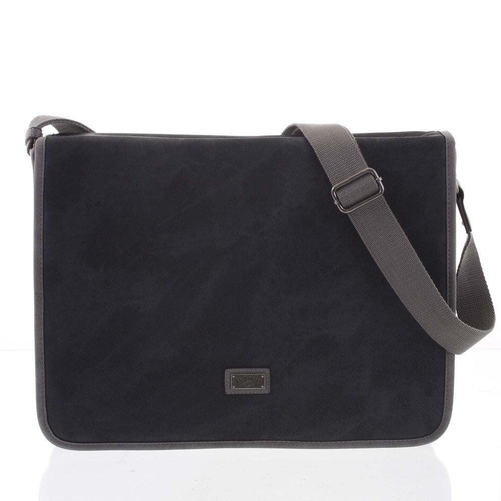 c16422680ec45 Velká černá moderní taška na notebook - Lee Cooper Aesculapius ...