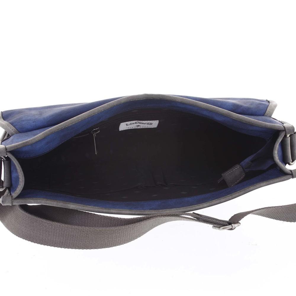... Velká modrá moderní taška na notebook - Lee Cooper Aesculapius ... 5e9e1ade58