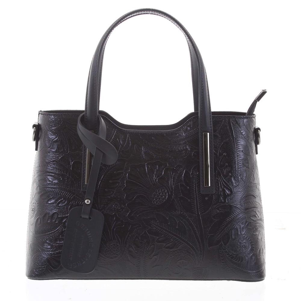 Originální dámská kožená kabelka černá - ItalY Zaira - Kabea.cz a621670ab43