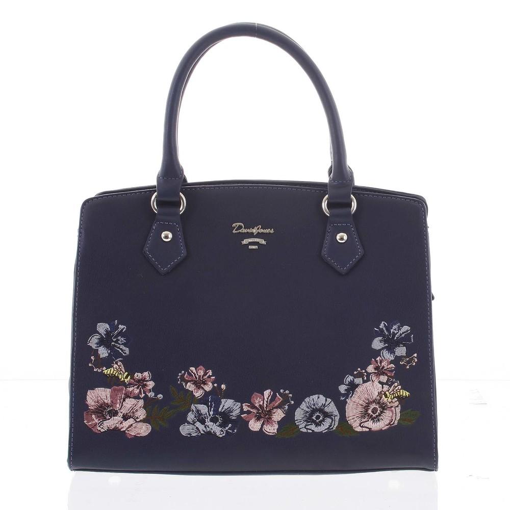 Elegantní květinová kabelka do ruky tmavě modrá - David Jones Agave ... 0c8be2b4fe