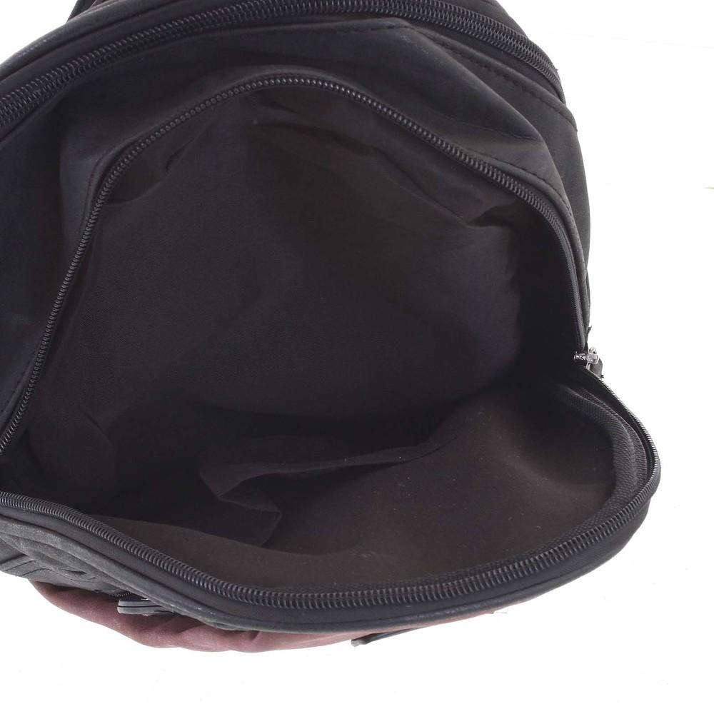 68f5bfdb2 ... Dámský módní stylový batůžek černo červený - Piace Molto Knife