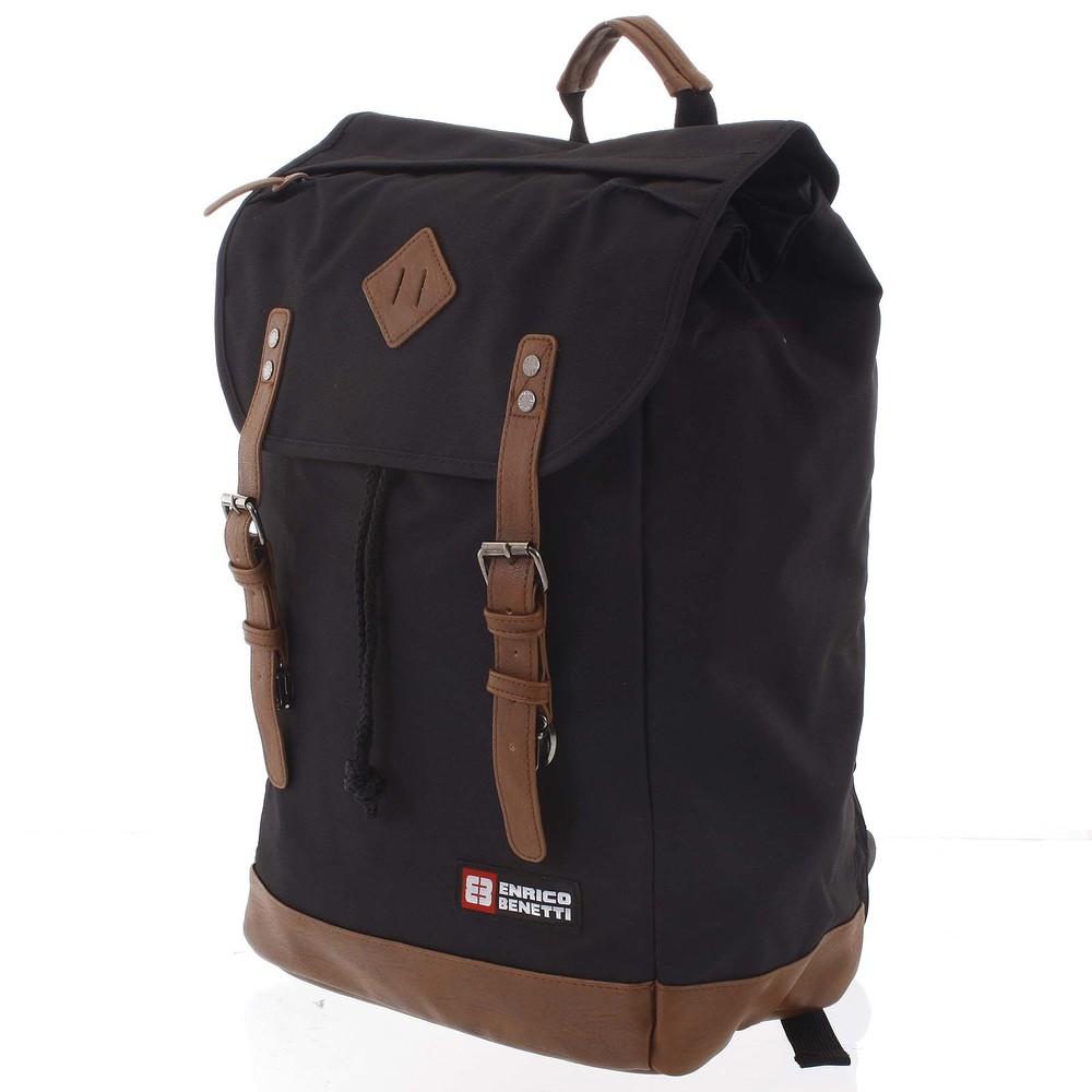 8446a72c9de Velký stylový černý batoh - Enrico Benetti Spoon - Kabea.cz