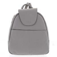 Měkký dámský kožený světle šedý batoh do města - Hexagona Zinovia bdd83a4e78