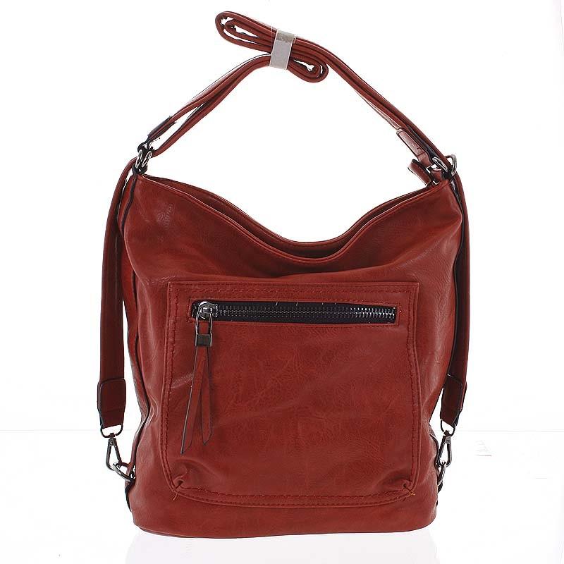 44fb6e4e18 Moderní měkká kabelka batoh červená - Delami Sawyer - Kabea.cz