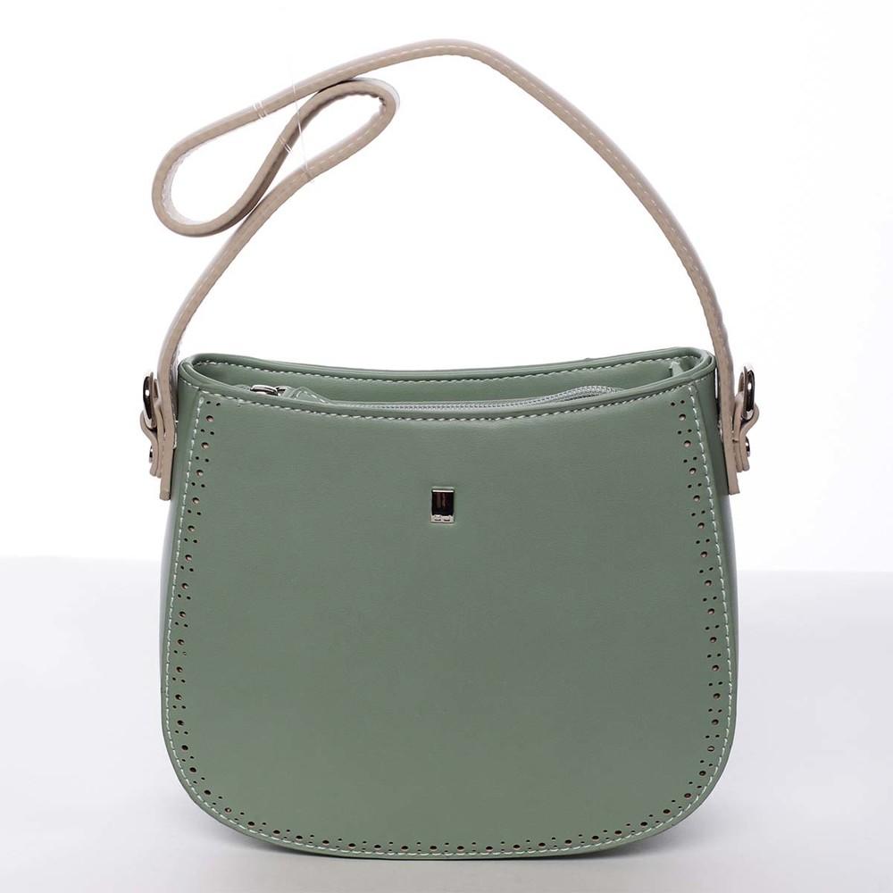 Elegantní listová crossbody kabelka zelená - David Jones Brigitte ... 576d163849d