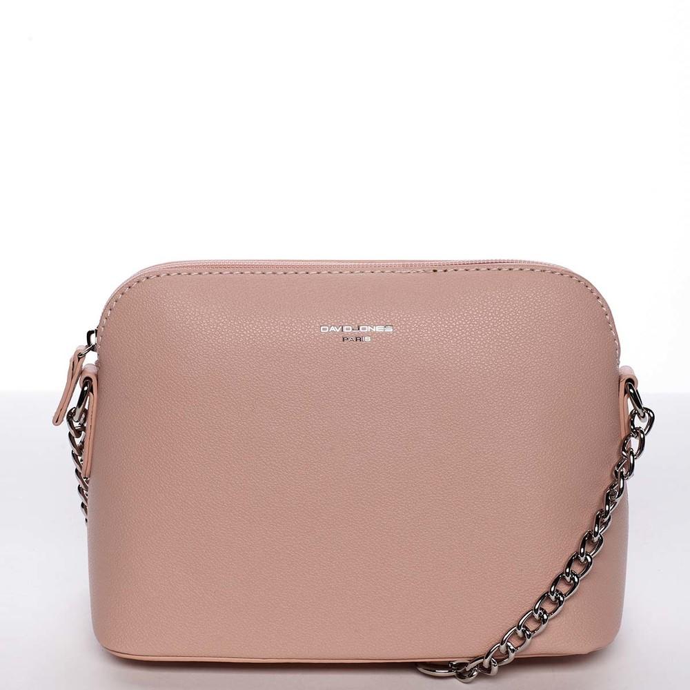 490f4f0445 Osobitá a elegantní dámská růžová crossbody kabelka - David Jones Milagros  ...