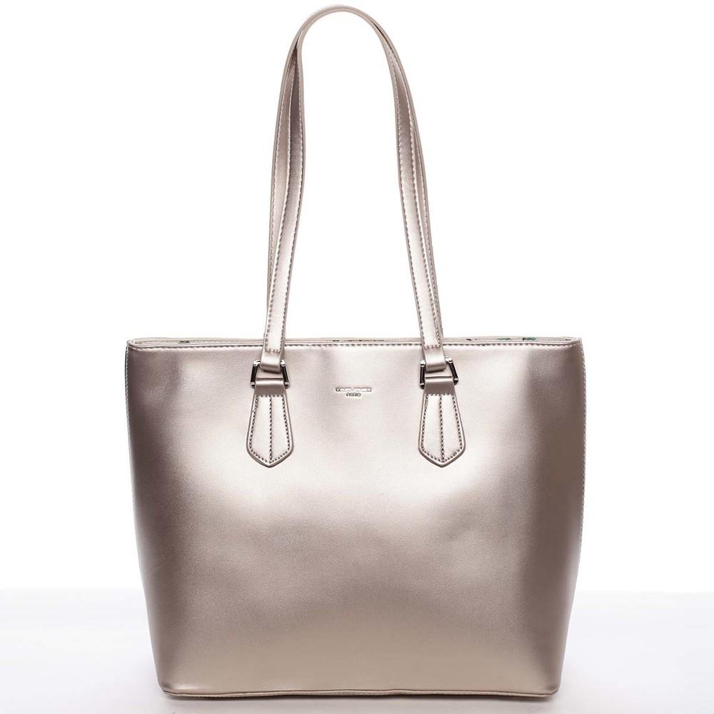022f9ac829 Velká elegantní hladká dámská zlatá kabelka - David Jones Emely ...