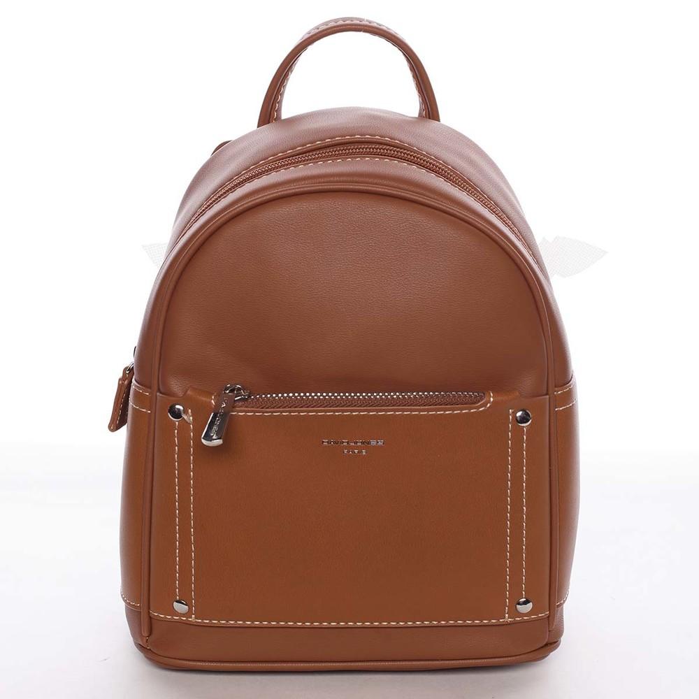 30abbc01f9 Dámský světle hnědý městský batoh s kapsičkou - David Jones Anthony ...