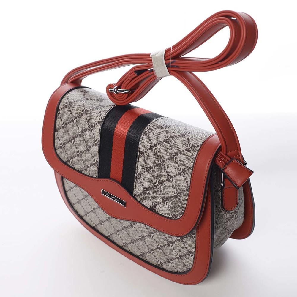 09beabd193 ... Módní originální dámská červená crossbody kabelka - Silvia Rosa Kristel  ...