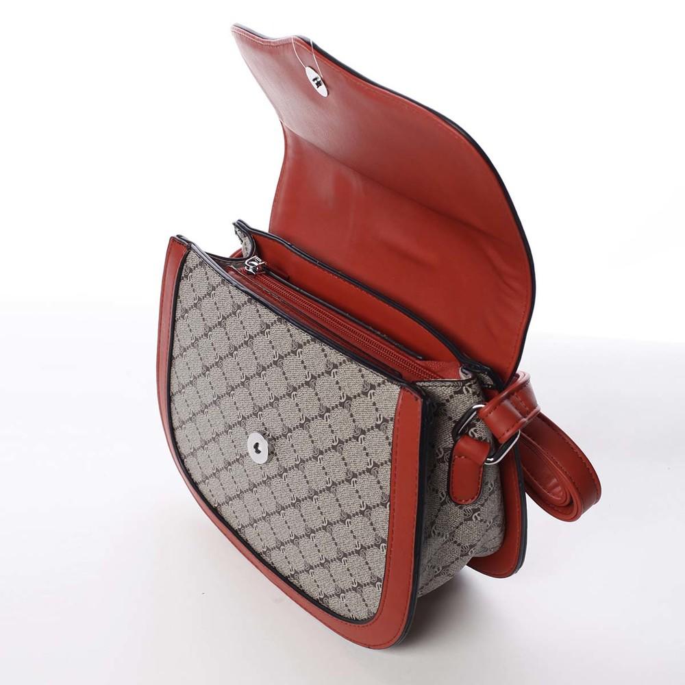 b19ed98e2e ... Módní originální dámská červená crossbody kabelka - Silvia Rosa Kristel