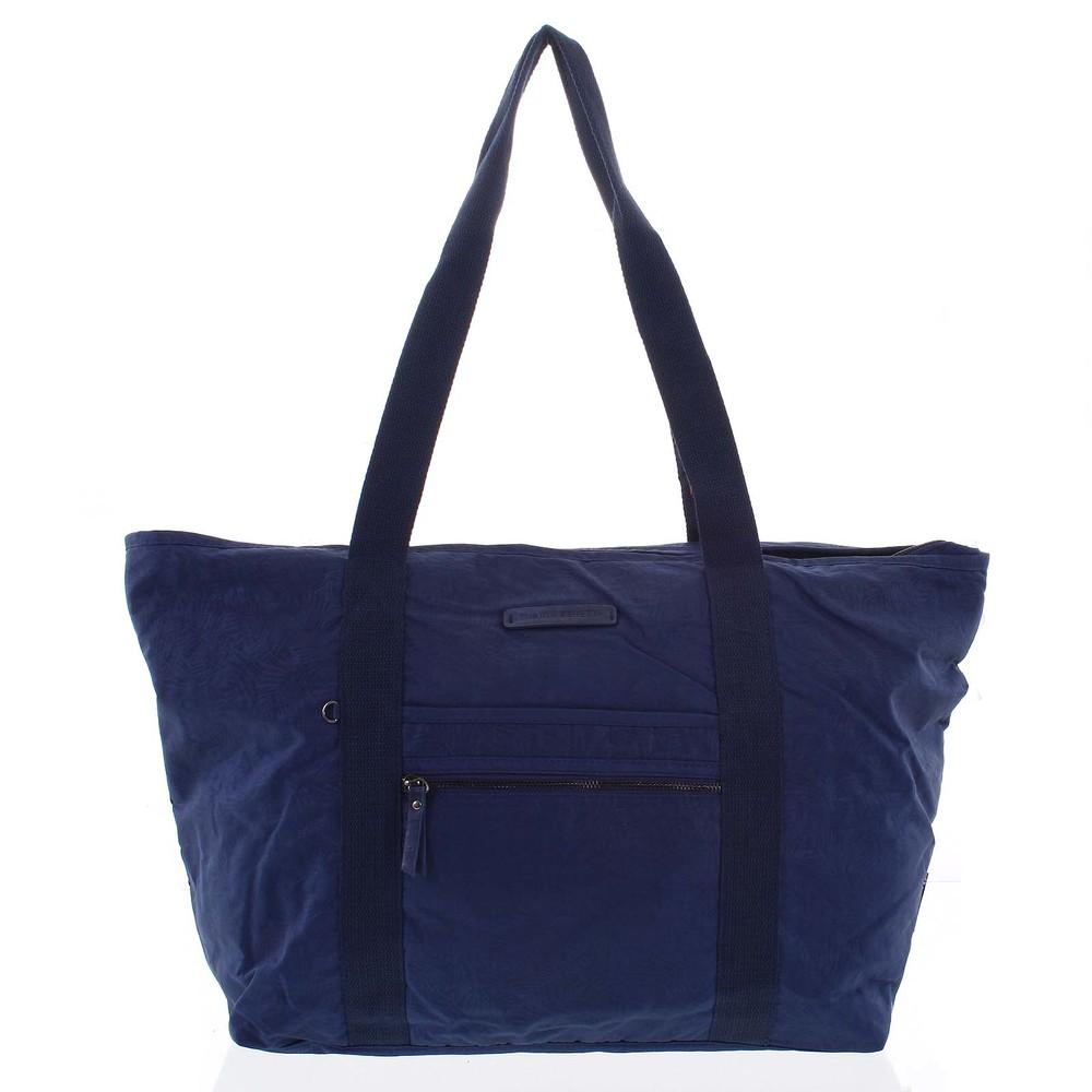 39d314aacbfe0 Velká dámská cestovní taška přes rameno tmavě modrá - Enrico Benetti Mariam  ...