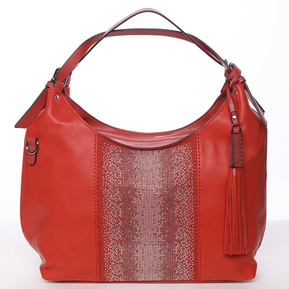 5935a6ca2e Luxusní červená dámská kabelka přes rameno - Maria C Parisa - Kabea.cz