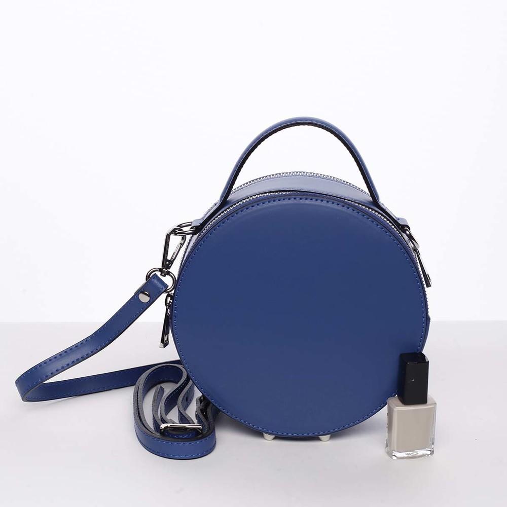 c7035e96af ... Malá královsky modrá elegantní dámská kožená kabelka - ItalY Husna ...