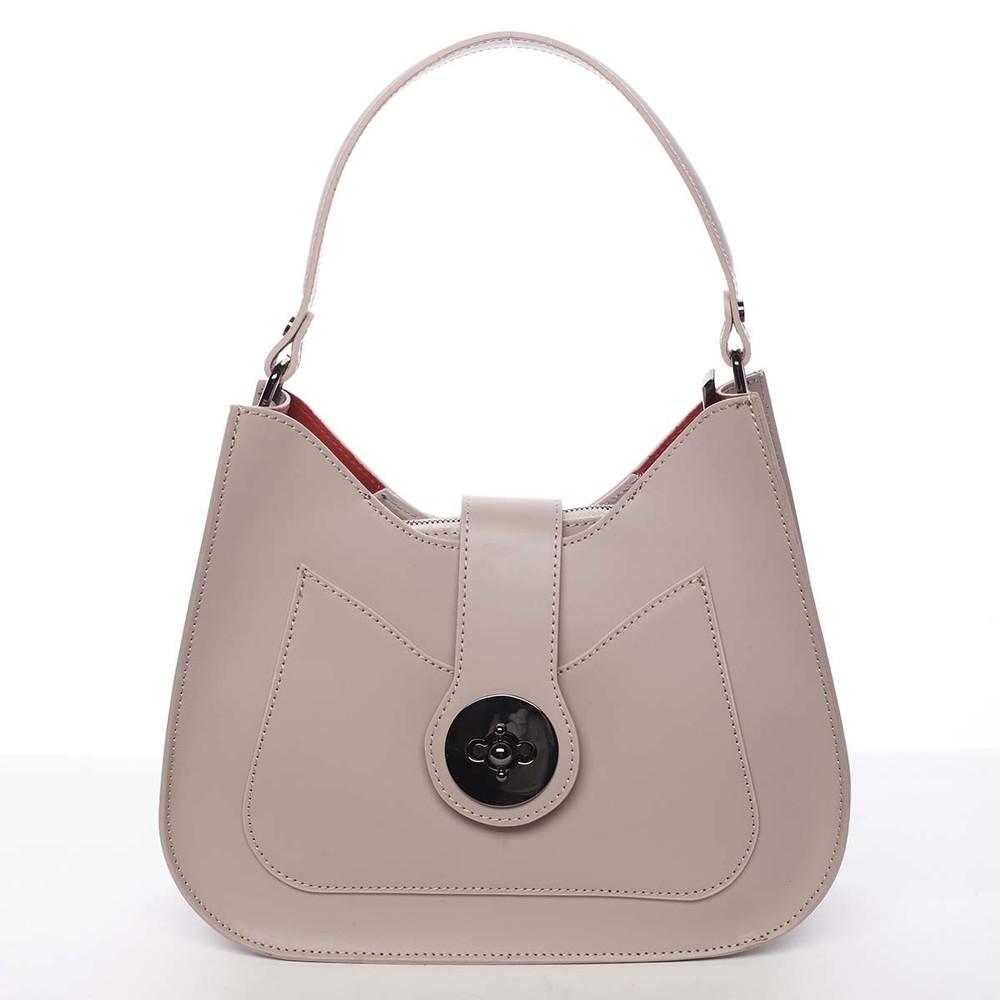 82e051029c52 Luxusní dámská kožená kabelka starorůžová - ItalY Fatima - Kabea.cz