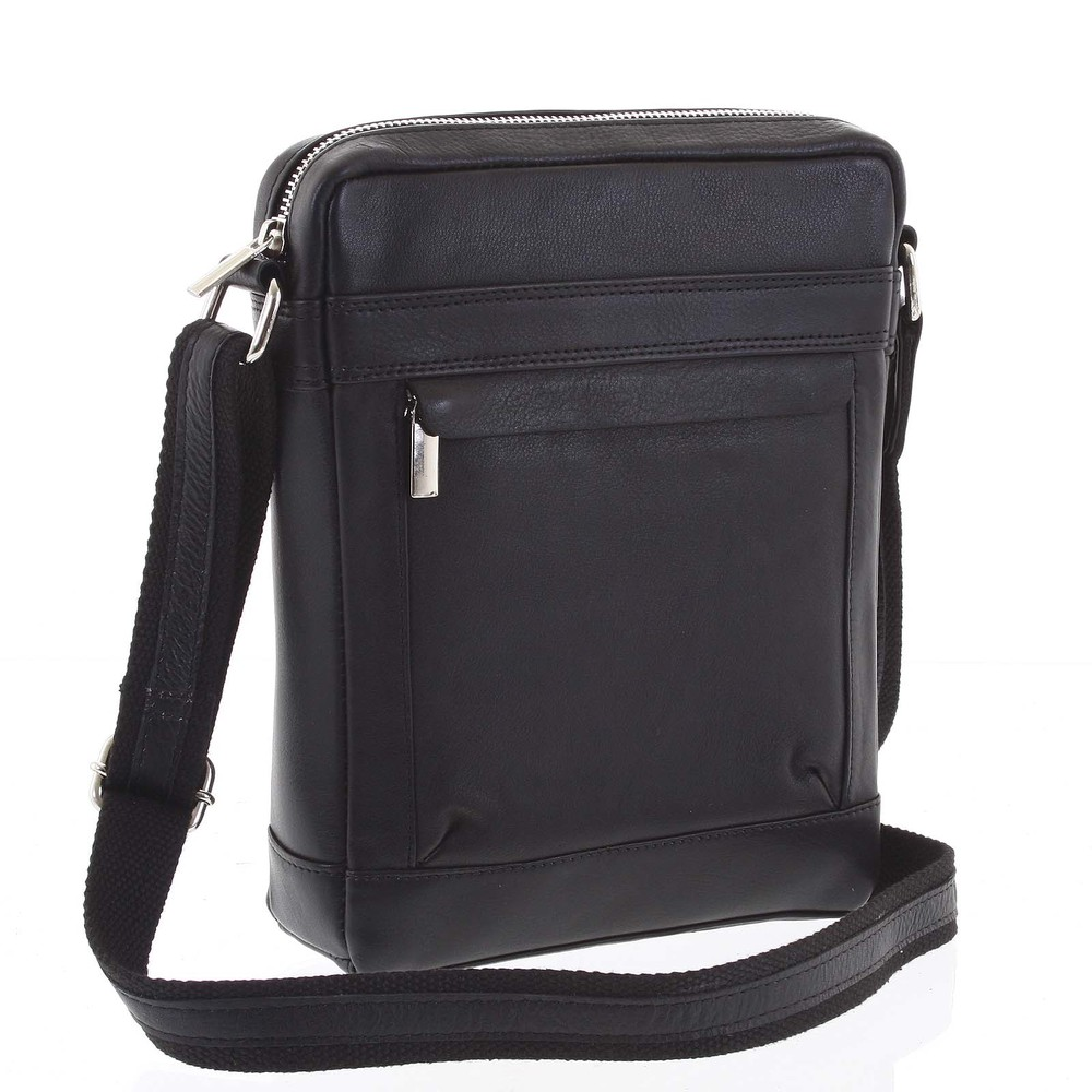 b9a9c7c0c1 Střední pánská kožená taška na doklady černá - WILD Akane - Kabea.cz