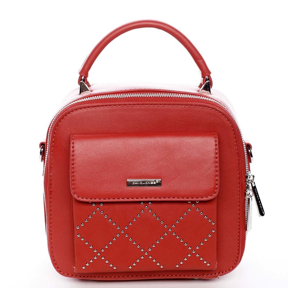 d32d2db791 Luxusní malá dámská kabelka do ruky červená - David Jones Stela ...